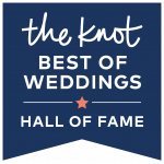 the knot BEST OF WEDDINGS HALL OF FAME badge